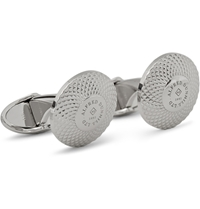Alfred Dunhill Engraved Silver Cufflinks