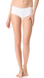 Hanky Panky Cotton With A Conscience Boy Shorts White