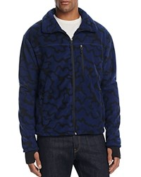 Hawke And Co. Abstract Print Fleece Jacket Blue Camo