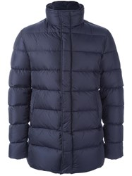 Herno Zip Up Padded Jacket Blue