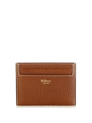 Mulberry Grained Leather Cardholder Brown