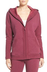 Uggr Women's Ugg 'Mavis' Stretch Cotton Zip Up Hoodie Lonely Hearts Heather