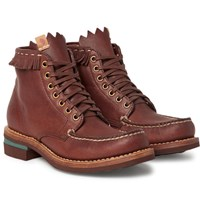Visvim Fringed Leather Boots Brown