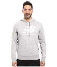 New Balance Classic Pullover Hoodie Athletic Grey Men's Sweatshirt Gray