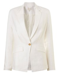 East Tailored Linen Jacket Pearl