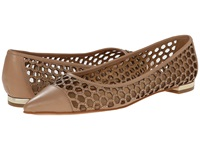 Enzo Angiolini Arabella Light Natural Leather Women's Dress Flat Shoes Neutral