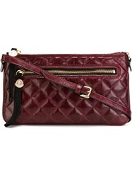 Moncler Quilted Crossbody Bag Red