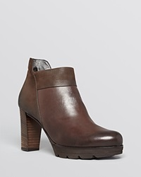 Paul Green Booties Alissa High Heel Chocolate Leather