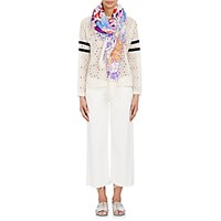 Forget Me Not Women's Garden Print Voile Scarf White Purple Blue No Color White Purple Blue No Color