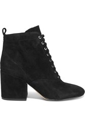 Sam Edelman Tate Lace Up Suede Ankle Boots Black