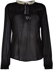 Veronique Branquinho Sheer Blouse Black