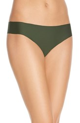 Women's Halogen 'No Show' Thong Green Mountain