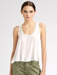 Blue Life Cropped Tank Top White