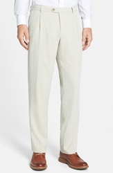 Tommy Bahama 'Havana' Pleated Herringbone Pants Khaki Sands