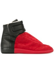Maison Martin Margiela 'Future' Hi Top Sneakers Red