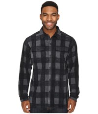 Columbia Forest Park Printed Overshirt Shark Buffalo Plaid Men's Long Sleeve Button Up