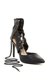 Penny Loves Kenny Mingle Lace Up Pump Black