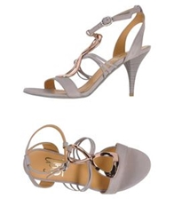 Sgn Giancarlo Paoli Sandals Dove Grey