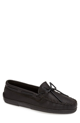 Minnetonka Moosehide Moccasin Black