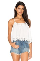 Bishop Young Lace Crop Top White