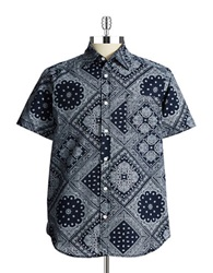 Union Patterned Sportshirt Navy