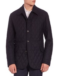 Sanyo Quilted Wool Twill Coat Midnight