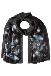 Alexander Mcqueen Butterfly Embroidered Scarf With Silk Multicolor