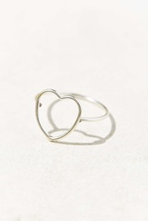 Urban Outfitters 18K Sterling Silver Delicate Open Heart Ring