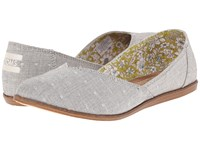 Toms Jutti Flat Grey Chambray Dot Women's Flat Shoes Gray