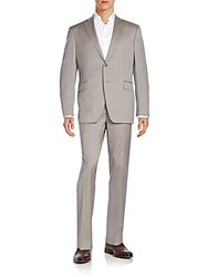 Saks Fifth Avenue Slim Fit Wool Suit Tan