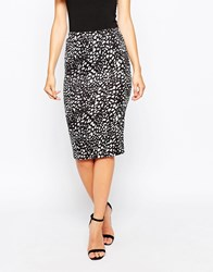 Wal G Pencil Skirt In Animal Print Animalprintblack