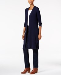 Styleandco. Style Co. Petite Striped Duster Cardigan Only At Macy's Industrial Blue