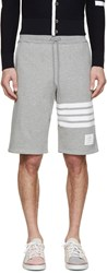 Thom Browne Grey Striped Shorts