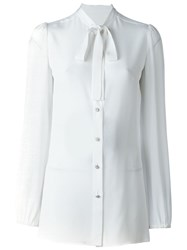 Dolce And Gabbana Bow Tie Shirt White