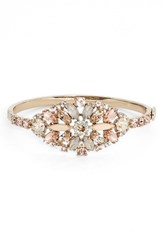 Women's Marchesa Jeweled Cluster Bangle Rose