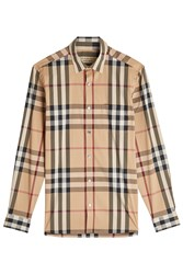 Burberry London Printed Shirt With Cotton Multicolor