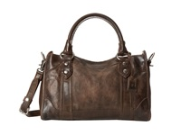 Frye Melissa Satchel Slate Antique Pull Up Satchel Handbags Black