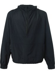 Ami Alexandre Mattiussi Hooded Windbreaker Jacket Black