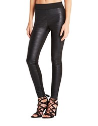 Bcbgeneration Faux Leather Front Leggings Black