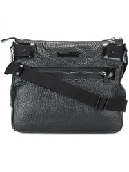 Emporio Armani Textured Medium Messenger Bag Black