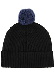 Johnstons Of Elgin Essentials Black Cashmere Beanie