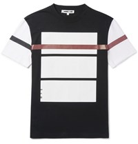 Mcq By Alexander Mcqueen Slim Fit Printed Cotton Jersey T Shirt Black