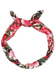 Dolce And Gabbana Rose Printed Headband With Wire