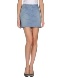 Galliano Mini Skirts Pastel Blue