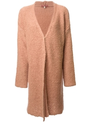 L'autre Chose Long Line Boxy Cardigan Pink And Purple