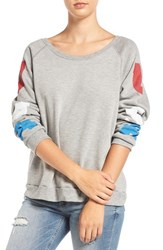 Project Social T Women's 'Usa' Raglan Sleeve Sweatshirt