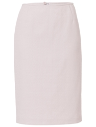 Basler Pencil Skirt With Structure Silver