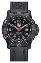 Men's Luminox 'Sea Anu' Polyurethane Strap Watch 45Mm Black Black Grey