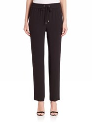St. John Cropped Crepe Pants Black