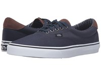 Vans Era 59 Cord And Plaid Dress Blues True White Skate Shoes